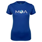Ladies Syntrel Performance Royal Tee-MOA Letters Only