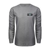 Grey Long Sleeve T Shirt-MOA