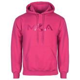 Fuchsia Fleece Hoodie-MOA Letters Only Foil