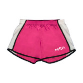 Ladies Fuchsia/White Team Short-MOA Letters Only