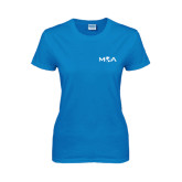 Ladies Sapphire T Shirt-MOA Letters Only