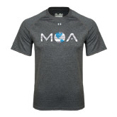 Under Armour Carbon Heather Tech Tee-MOA Letters Only
