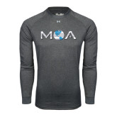 Under Armour Carbon Heather Long Sleeve Tech Tee-MOA Letters Only