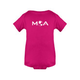 Fuchsia Infant Onesie-MOA Letters Only