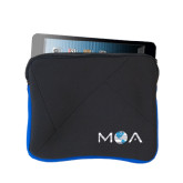 Neoprene Black w/Royal Trim Zippered Tablet Sleeve-MOA Letters Only