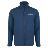 Navy Softshell Jacket-MOA Letters Only