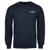 Navy Fleece Crew-MOA Letters Only