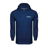 Under Armour Navy Performance Sweats Team Hood-MOA Letters Only