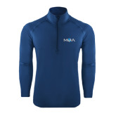 Sport Wick Stretch Navy 1/2 Zip Pullover-MOA Letters Only