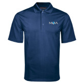 Navy Mini Stripe Polo-MOA Letters Only