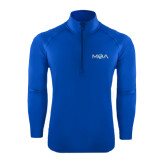 Sport Wick Stretch Royal 1/2 Zip Pullover-MOA Letters Only