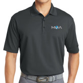 Nike Golf Dri Fit Charcoal Micro Pique Polo-MOA Letters Only