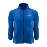 Fleece Full Zip Royal Jacket-MOA Letters Only