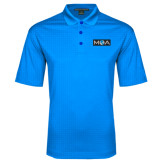Light Blue Performance Fine Jacquard Polo-MOA