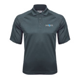 Charcoal Dri Mesh Pro Polo-MOA Letters Only
