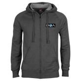 Charcoal Fleece Full Zip Hoodie-MOA