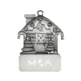 Pewter House Ornament-MOA Letters Only Engraved