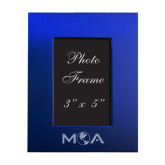 Royal Brushed Aluminum 3 x 5 Photo Frame-MOA Letters Only Engraved