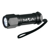 Workmate 8 LED Aluminum Superbright Black Flashlight-MOA Letters Only Engraved