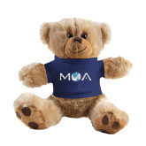 Plush Big Paw 8 1/2 inch Brown Bear w/Navy Shirt-MOA Letters Only