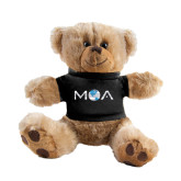 Plush Big Paw 8 1/2 inch Brown Bear w/Black Shirt-MOA Letters Only