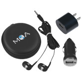 3 in 1 Black Audio Travel Kit-MOA Letters Only