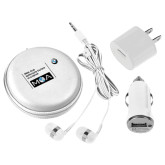 3 in 1 White Audio Travel Kit-BMW MOA