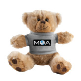 Plush Big Paw 8 1/2 inch Brown Bear w/Grey Shirt-MOA
