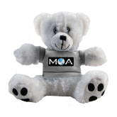 Plush Big Paw 8 1/2 inch White Bear w/Grey Shirt-MOA