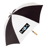 62 Inch Black/White Umbrella-MOA
