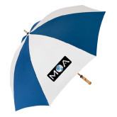 62 Inch Royal/White Umbrella-MOA