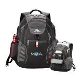 High Sierra Big Wig Black Compu Backpack-MOA Letters Only