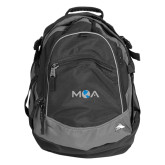 High Sierra Black Fat Boy Day Pack-MOA Letters Only
