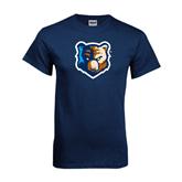 Navy T Shirt-Bruin Head