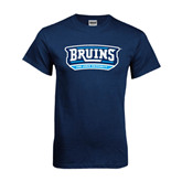 Navy T Shirt-Arched Bruins Shield