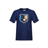 Youth Navy T Shirt-Bruin Head