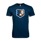 Next Level SoftStyle Navy T Shirt-Bruin Head