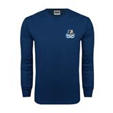 Navy Long Sleeve T Shirt-Official Logo