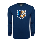 Navy Long Sleeve T Shirt-Bruin Head