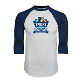 White/Navy Raglan Baseball T-Shirt-Inaugural Season