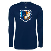 Under Armour Navy Long Sleeve Tech Tee-Bruin Head