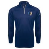 Under Armour Navy Tech 1/4 Zip Performance Shirt-Bruin Head