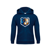 Youth Navy Fleece Hoodie-Bruin Head