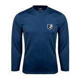 Syntrel Performance Navy Longsleeve Shirt-Bruin Head