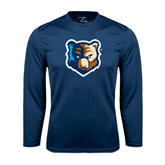 Syntrel Performance Navy Longsleeve Shirt-Bruin Head