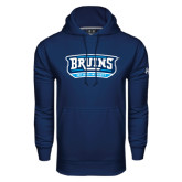Under Armour Navy Performance Sweats Team Hoodie-Arched Bruins Shield
