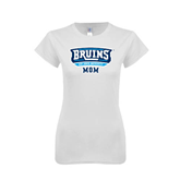 Next Level Ladies SoftStyle Junior Fitted White Tee-Mom