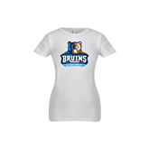 Youth Girls White Fashion Fit T Shirt-Official Logo