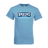 Light Blue T Shirt-Arched Bruins Shield