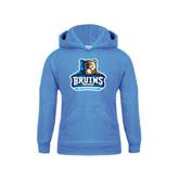Youth Light Blue Fleece Hoodie-Official Logo